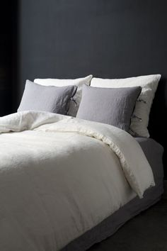 1000 images about comfy beds on pinterest linens - Society linge de maison ...