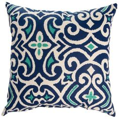 Classic and stylish, this lovely pillow pairs perfectly with your patio seating group or master suite bedding ensemble.