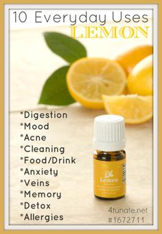 Uses and Benefits for Lemon Essential Oil + Yummy Recipe #youngliving #oilyfamilies #essentiallysummer