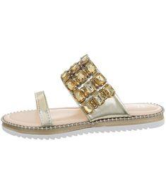 Dámske trendy šľapky na rovnej podrážke s remienkom zdobeným kamienkami. Mäkkučká stielka zabezpečí pohodlie po celý deň. Nadčasový dizajn a kvalita od výrobcu Sergio Todzi. Slip On, Sandals, Shoes, Fashion, Moda, Shoes Sandals, Zapatos, Shoes Outlet, Fashion Styles