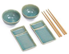 Sushi set for 2 persons, dishes for sushi, Sushi Set Misaki turquoise Snack Bowls, Cereal Bowls, Ceramic Teapots, Ceramic Bowls, Ramen Noodle Bowl, Yellow Towels, Sushi Plate, Sushi Set, Rustic Ceramics