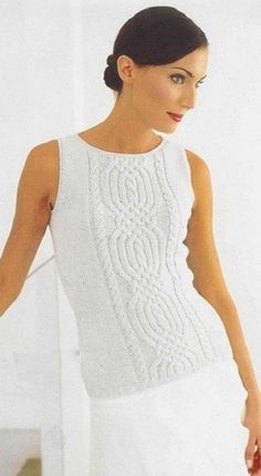 Filename = 1 ~ Filesize = Dimensions = Date added = Apr 2014 Sweater Knitting Patterns, Lace Knitting, Knit Vest, Knitting For Kids, Sweater Fashion, Crochet Clothes, Pulls, Knitwear, Sweaters For Women