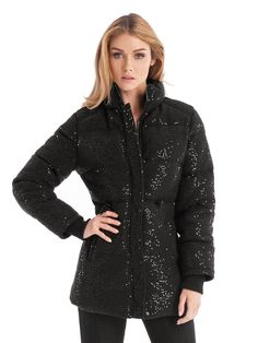 29438bb709 GUESS by Marciano Sequin Puffer Jacket