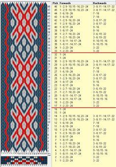 24 tarjetas, 3 colores, repite cada 16 movimientos // sed_624 diseñado en GTT༺❁