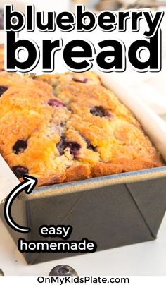 Blueberry Bread is super easy quick bread that  you can make from scratch! This moist quick bread is loaded with fresh blueberries and is sweetened just right. This homemade bread can be made with frozen blueberries also. A perfect quick breakfast  or snack that the whole family will love! #blueberrybread #breakfastrecipes #blueberries Blueberry Bread Recipe, Blueberry Jam, Quick Bread, How To Make Bread, Bread Recipes, Baking Recipes, Zucchini Chocolate Chip Muffins, Bake Sale Recipes, Frozen Blueberries