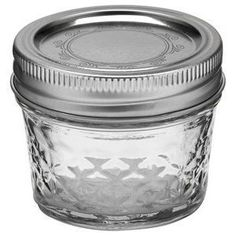 Ball jars with 2-piece lids. The quilted sides & decorative top make these great for gifts.