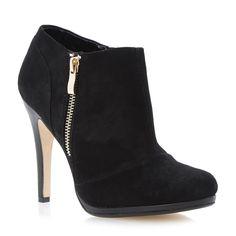 b84468f6620f5d DUNE LADIES ADDORNA - Zip Detail Shoe Boot - black