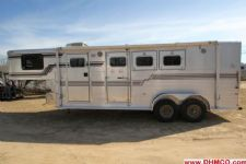 #87208 - Used 1995 Sundowner 7360LQ 3 Horse Trailer  with 6' Short Wall