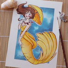 Raquel Travé Illustration — Mermaid Jane Porter! I love this character, she's...
