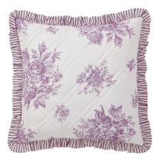 "Josephine Orchid Quilted Euro Pillow Sham 26"" x 26"" from The Country Porch"