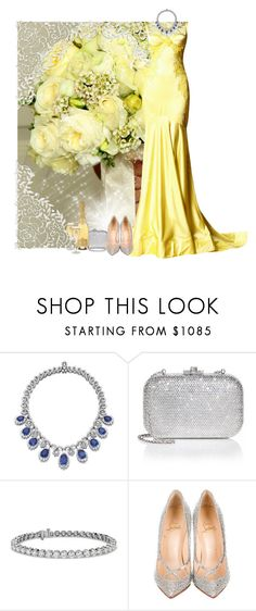 """""""Always a Bridesmaid"""" by fashionbrownies ❤ liked on Polyvore featuring Zuhair Murad, Judith Leiber, Blue Nile and Christian Louboutin"""