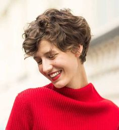 Short Curly Brown Pixie Hairstyles 2015