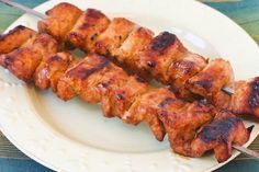 Chile Mustard Pork Kabobs