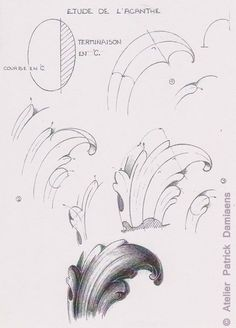 50 Best Scroll (Acanthus) design engraving paterns images