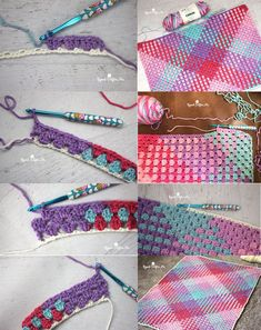crochet color pooling with caron simply soft stripes #DIY