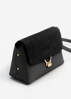 Leather flap bag - Women | MANGO USA
