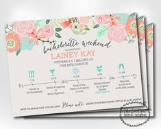 Items similar to Bachelorette Party Itinerary Invitation; Bachelorette Schedule Timeline Invitation -- Digital Printable on Etsy Bachelorette Itinerary, Bachelorette Party Invitations, Bachelorette Weekend, Wedding Invitations, Bachelorette Party Invites, Bachlorette Party, Before Wedding, Wedding Weekend, Ideas