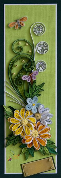 Greeting quilling card