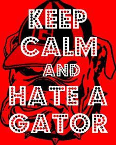 Keep Calm And Hate A Gator