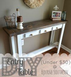 Someday Crafts: DIY Entry Table {Under $30}