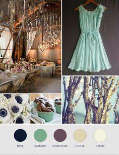 Seafoam Green and Purple Wedding