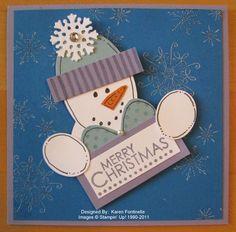 Punch Art Snowman Christmas Card