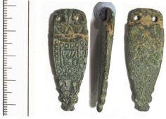 DUR-1B50E2: Anglo-Saxon strap end- DUR-1B50E2
