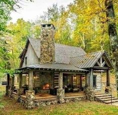 Rustic Home Design, Cabin Design, House Design, Log Cabin Living, Log Cabin Homes, Log Cabins, Style At Home, Casas The Sims 4, Haus Am See