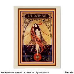 Art Nouveau Cover for La Danse 12 x 16 Poster  $13.00