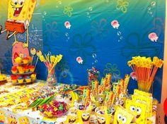 SpongeBob Spongebob Birthday Party, Party Themes, Party Ideas, Birthday Ideas, Wedding, Painting, Design, Valentines Day Weddings, Painting Art