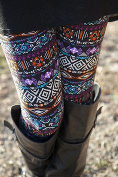 Jewel Toned Geometric Leggings