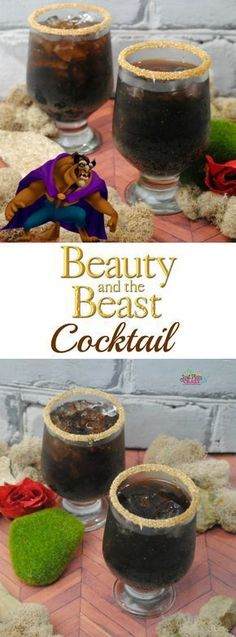 """""""Beauty and the Beast"""" is the fantastic journey of Belle, a young woman who is taken prisoner by a beast in his castle, hence The Beast Cocktail recipe."""