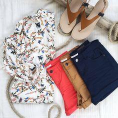 Promod Total Look Shirt Ref. 1-4-26-02-16-520 Short Ref. 1-4-23-01-09-662 Shoes Ref. 1-4-29-02-70-026 #PromodBoutiqueFrançaise #SS2016 #Summer