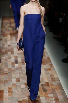 Valentino|Strapless silk jumpsuit|