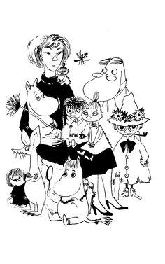 """moomin birthday illustration art """"Tove : Tove Jansson's anniversary Tove Jansson, Illustrations, Illustration Art, Les Moomins, Moomin Valley, Wisdom Books, Art Icon, Little My, Book Authors"""