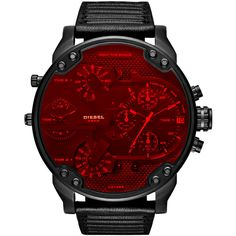 Diesel DZ7402 Timeframes ($375) ❤ liked on Polyvore featuring men's fashion, men's jewelry, men's watches, black, men, timeframes, watches, matte black mens watches, mens watches jewelry and mens water resistant watches