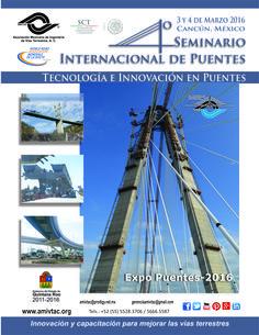 Conoce el poster oficial del 4to. Seminario Internacional de Puentes a celebrarse los días 3 y 4 de marzo de 2016 en la ciudad de Cancún, México.