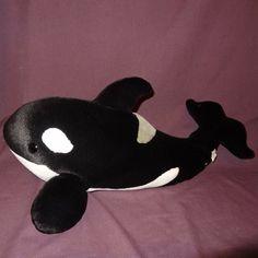 Killer Whale Orca Sea World Shamu SeaWorld Stuffed Animal Plush 22 inches Long #SeaWorld