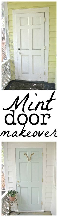 Mint door makeover -