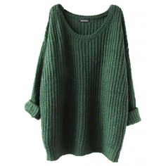 Women Oversized Knitted Sweater Batwing Sleeve Tops Loose Outwear Coat... ($9.65) ❤ liked on Polyvore featuring tops, sweaters, sweatshirt, batwing sleeve sweater, loose pullover sweater, loose sweater, oversized tops and pullover sweater