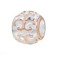 b64d5b55a Individuality Beads 14k Rose Gold Over Silver & Sterling Silver Filigree  Spacer Bead