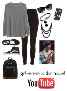 Girl Version of Dan Howell Crazy Outfits, Outfits For Teens, Trendy Outfits, Cool Outfits, Fashion Outfits, Youtube Style, Emo Style, Dan Howell, Inspired Outfits