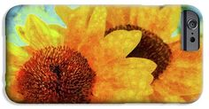 Sunflower IPhone 6s Case featuring the painting Sunflowers by Grigorios Moraitis