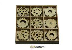 Craft Emotions Holz Ornament Box Gears Zahnräder: Amazon.de: Küche &…