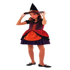 DisfracesMimo, disfraz de brujita lujo niña varias tallas. Tu hija podrá ser la bruja más guapa a la vez que malvada de toda la fiesta de halloween. Ten cuidado porque te hechizará con su dulzura. Este disfraz es ideal para tus fiestas temáticas de bruja y miedo para infantiles.