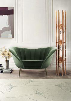 Green velvet armchair | Fall 2016 Color Trends According To Pantone| www.bocadolobo.com/ #luxuryfurniture #designfurniture