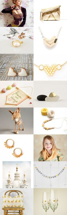 Sweet Honey by Elena Anufrieva on Etsy--Pinned with TreasuryPin.com #etsyfinds #gold #jewelry #valentinegifts #forher #gifts