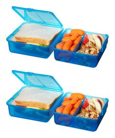 Another great find on #zulily! Turquoise Lunch Cube - Set of Two #zulilyfinds