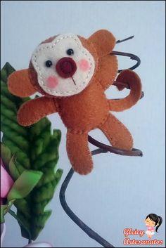 Macaco em feltro! <3