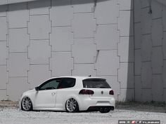 Volkswagen Golf VI Modifications:  Alzor 629 (Front: 19x8.5 ET45 225/35/19), AirLift Slam Kit, ECS R Conversion  #VW #dub #fitment #stance #awesome #coolcar #loveit #dublife #airlift #airout #pancake #V2 #lowerit